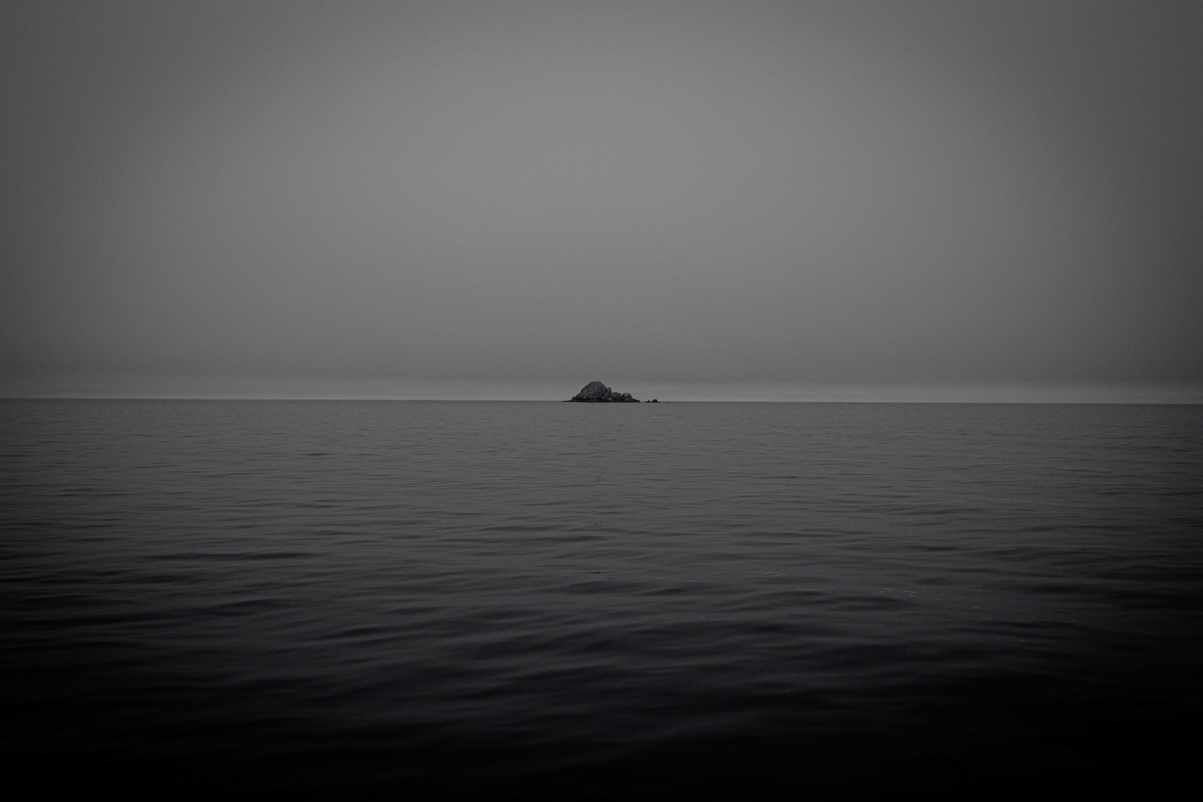 Landsicht am Ende des Horizonts